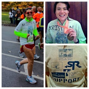 Kristen's Post-Marathon Thank You Photo