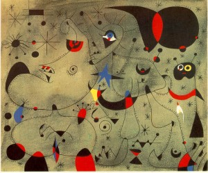 Nocturne -Joan Miro painting 4