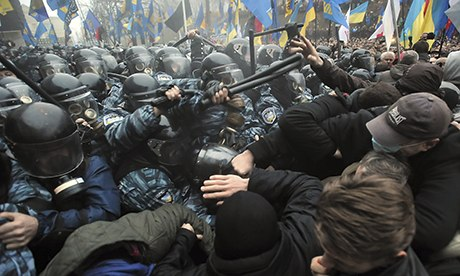 Anti-government protest in Kiev, 24/11/13