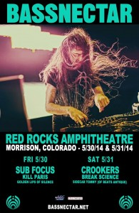 Bassnectar Red Rocks flyer