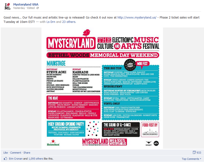 Mysterland lineup release