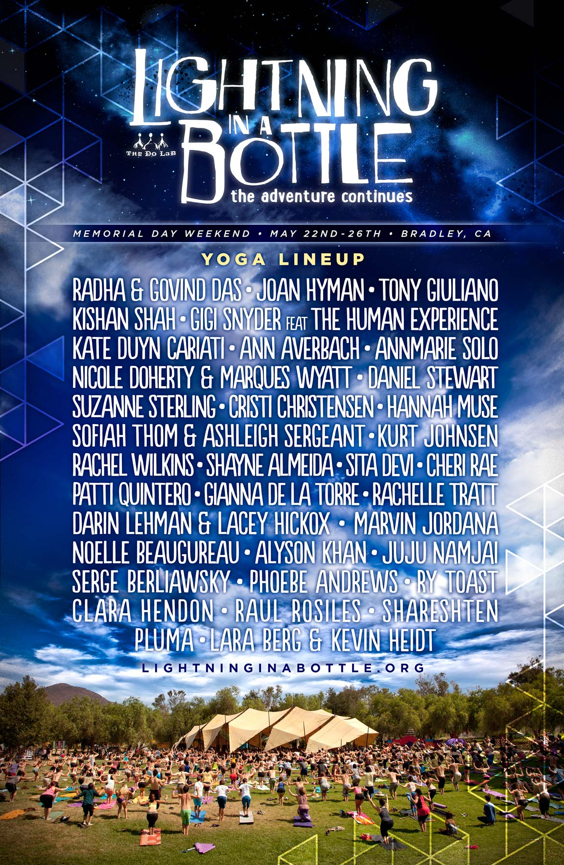 Lighting In A Bottle 2017 Yoga Lineup