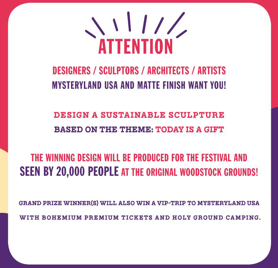 Mysteryland USA & Matte Finish Design Challenge