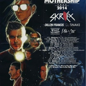 skrillex north american tour