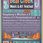 Bear Creek Music & Art Festival Announces 2014 Initial Lineup Featuring Umphrey's Mcgee, Lettuce, Break Science and More