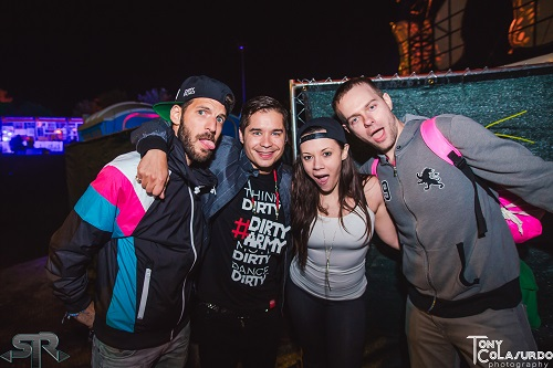 Pitchen (left) and Charly (right) of Dirtyphonics meets with fans after their