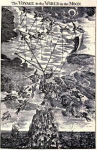 An illustration from Cyrano de Bergerac's Voyage to the Moon