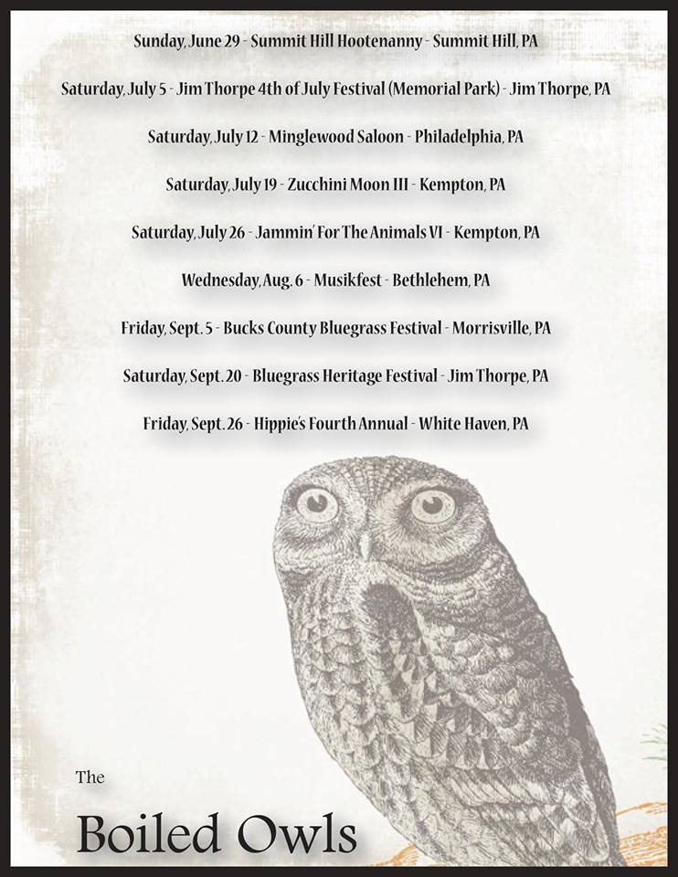 The Boiled Owls Schedule