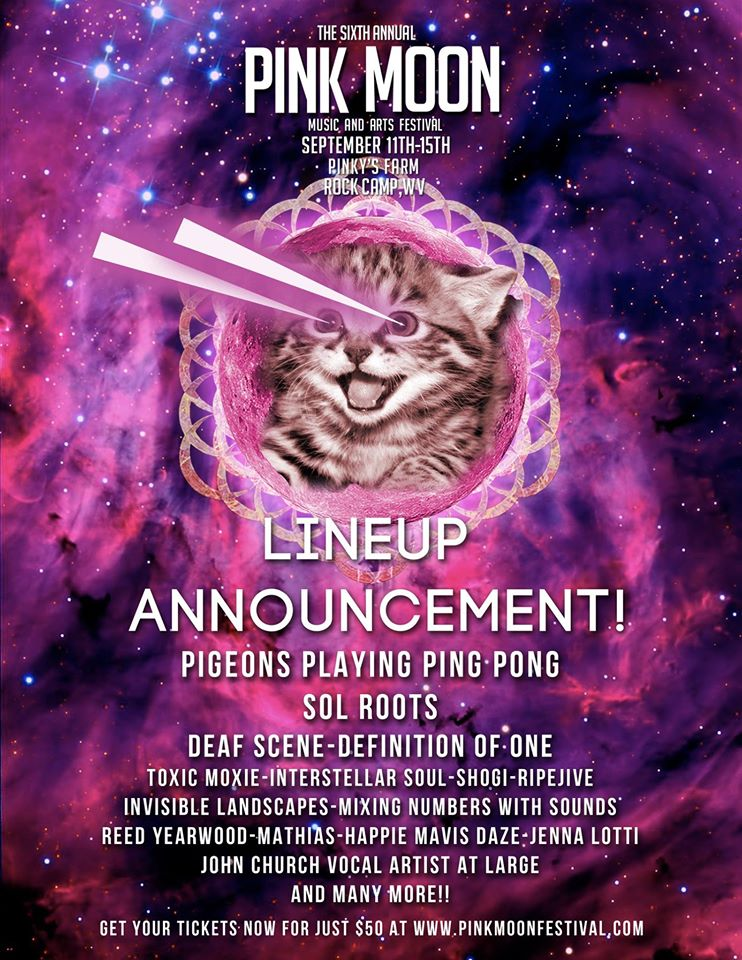 Pink Moon One More Lineup Announcement Will Be Made Before September So Stay Tuned The Festival Adding A Third Stage To Accommodate All Of This