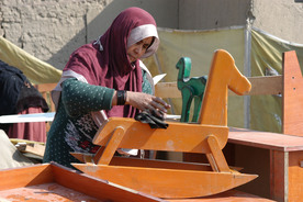 Afghan women carpenters