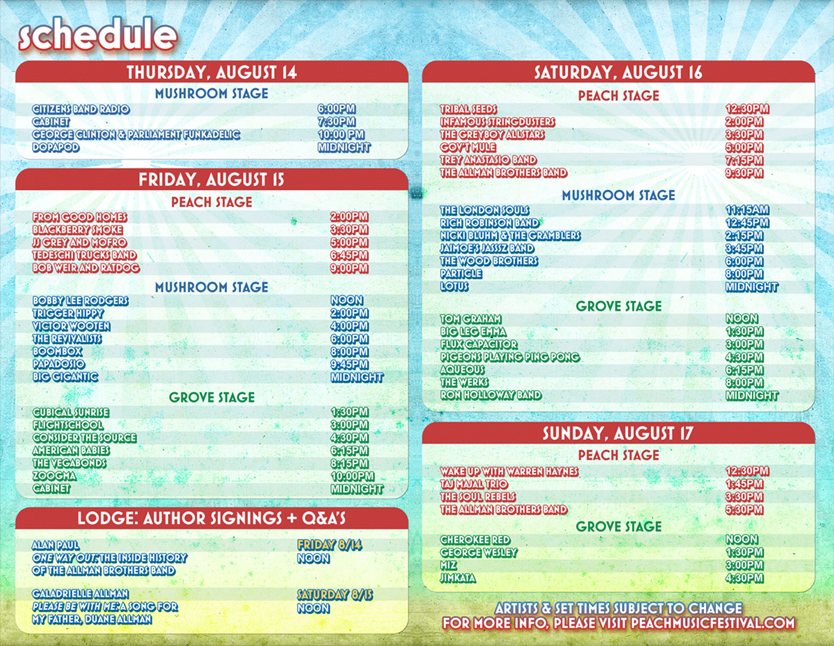 The Peach Music Festival Schedule Is Out