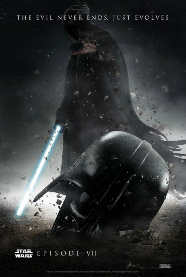 Fan art poster for Star Wars: Episode VII. From LatinosPost.