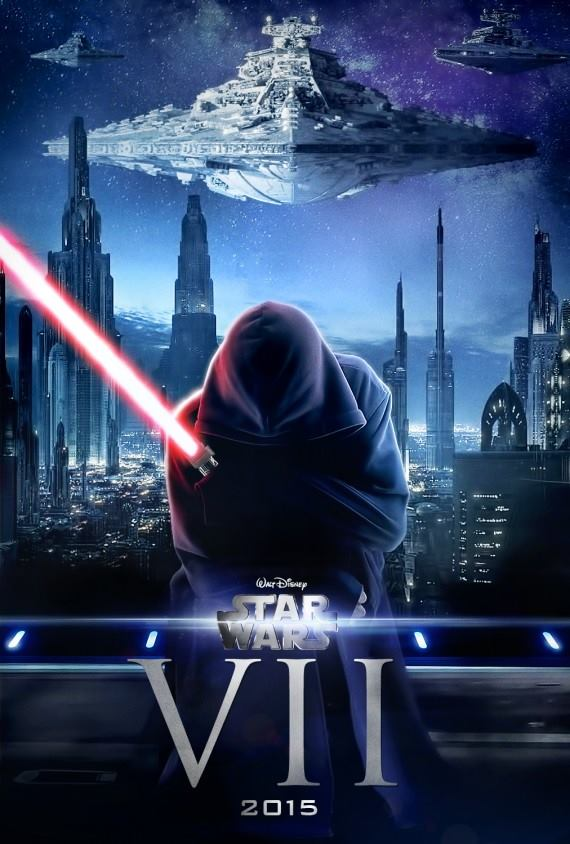 Fan art poster for Star Wars: Episode VII.