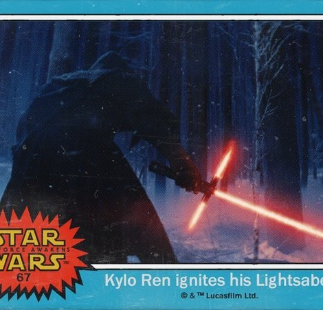 Kylo Ren ignites his Lightsaber