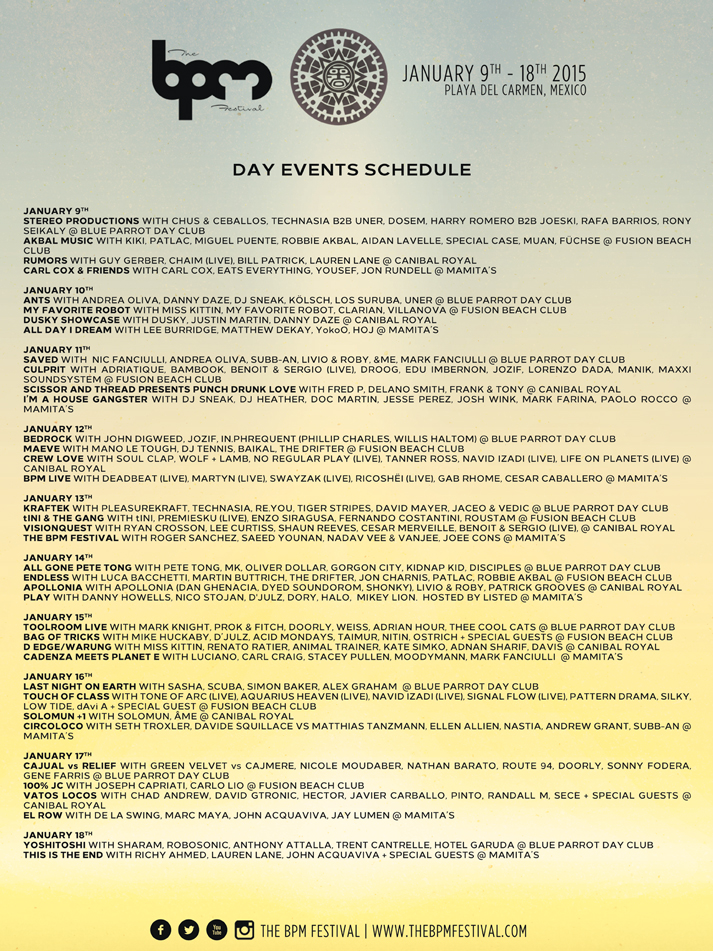 bpm day events schedule
