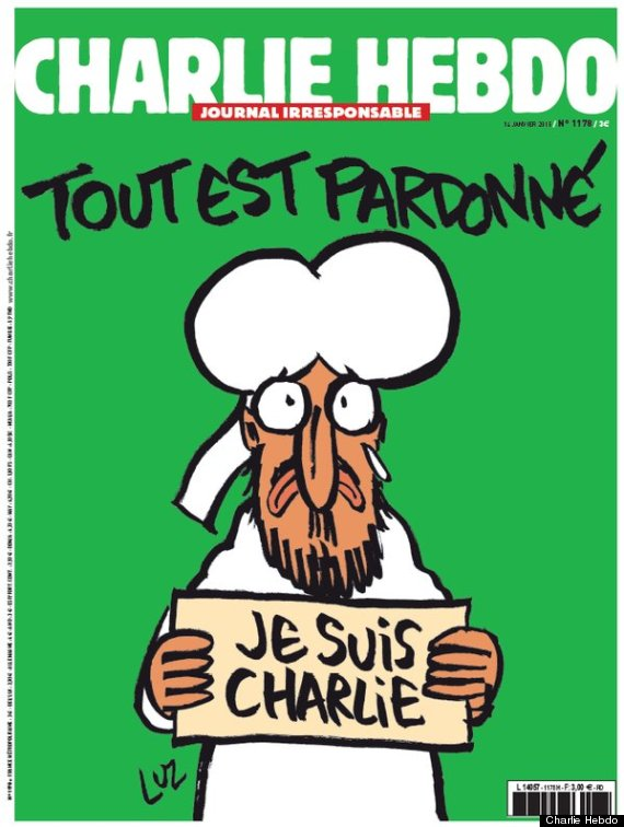 Muhammad Holding 'Je Suis Charlie' Sign