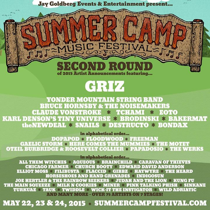 Summer Camp Second Round Lineup Announcement