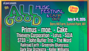All Good Music Festival Adds Almost Dead, Railroad Earth and More