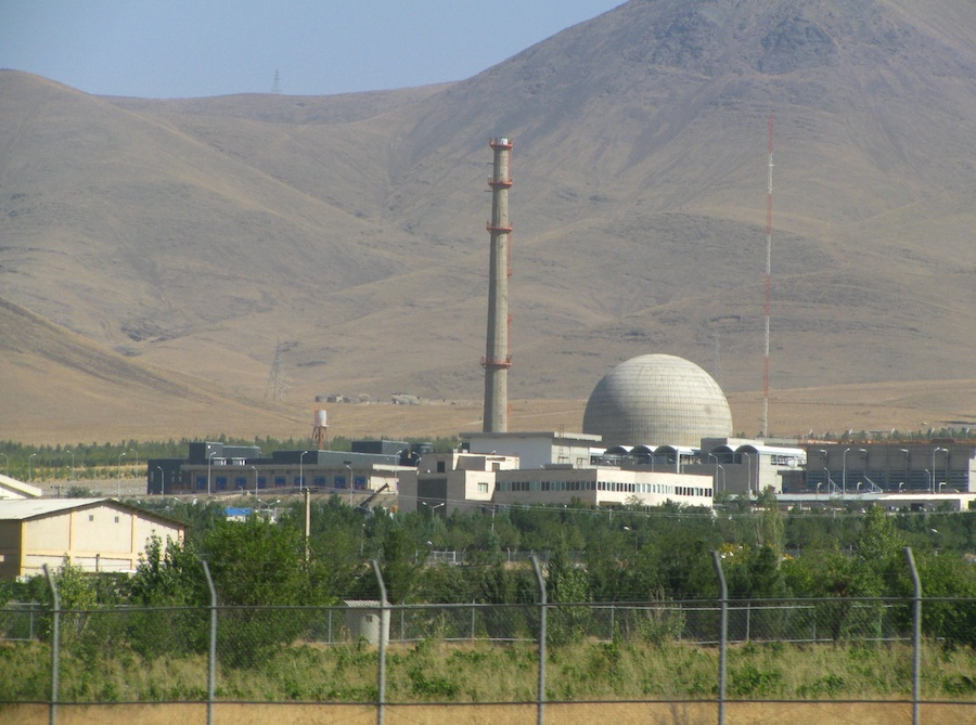 The Iran nuclear program's heavy water reactor at Arak.